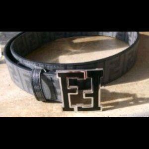 Fendi zucca men's belt